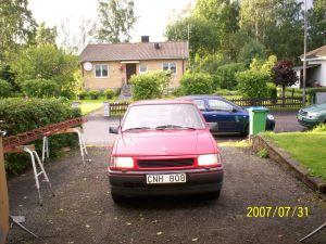 Det här var min första bil. Stina. Hon dog på en åker i snöoväder. R.I.P.